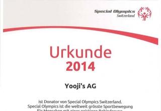 Yooji's unterstützt den Behindertensport