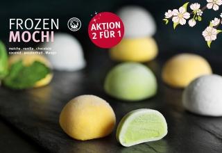 Ab sofort: Frozen Mochi Aktion 2 für 1!