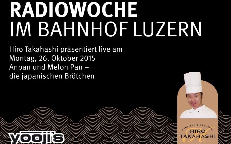 Radiowoche im Bahnhof Luzern mit Radio Central und Sunshine