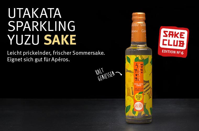 Sake Club Edition No. 6: UTAKATA SPARKLING YUZU SAKE