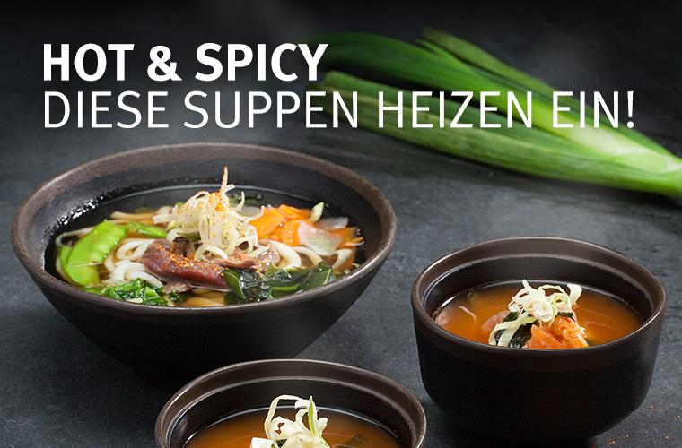 Jetzt in 7 Sorten: Noodle und Miso Soups