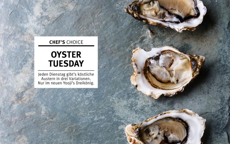 Freut euch auf frische Austern – nur dienstags und nur im Yooji's Dreikönig!