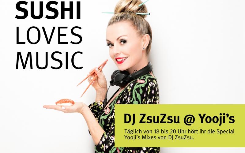 Sushi loves music